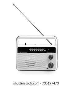 Radio receiver on white background