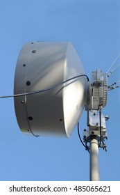 Radio relay antenna is a high-quality connection. Cellular communication, Internet and other data types.