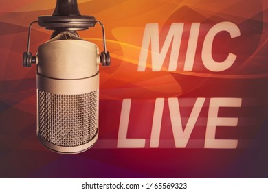 For radio station: Professional microphone on air
