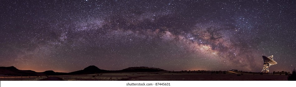 Radio Telescope and Milky Way