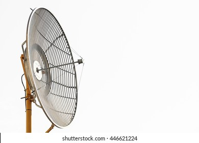 Radio telescopes or satellite dish for communication, Technology for communication between country, Connection by satellite signal and Radio telescopes and maintenance by electrical engineering.