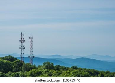 Radio towers, telecommunications