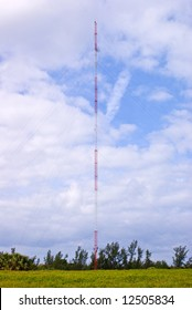 Radio Transmission Mast or Tower in Green Field