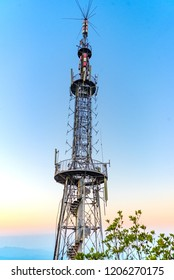 Radio and TV transmission tower of Qilin Mountain