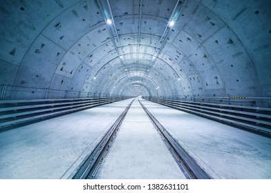Radioactive lines inside the tunnel