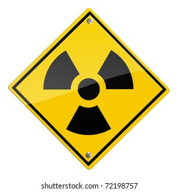 Radioactive symbol, nuclear sign isolated on white background