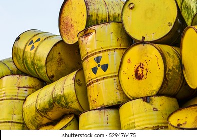 Radioactive waste barrels