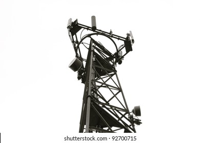 Radio/Communication Tower taken in Black & White