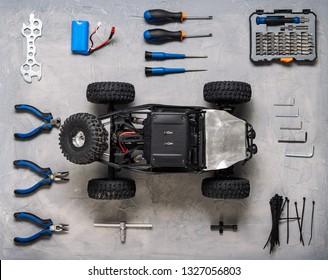 Radio-controlled car models: Repair kit for RC models.