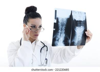 Radiography on white background