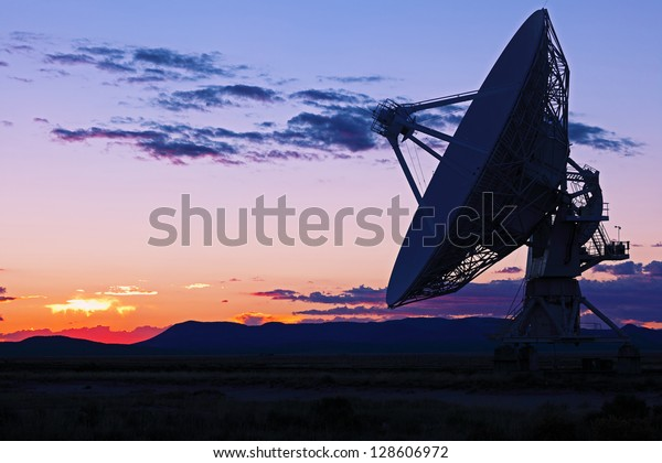 Radiotelescopes at the Very Large Array, the National Radio Observatory in New Mexico
