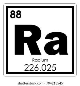 Radium chemical element periodic table science symbol