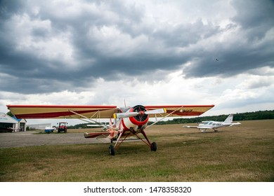Radom, Airklub, Poland/August 3, 2019 ;Light aircraft, aircraft for towing glider.