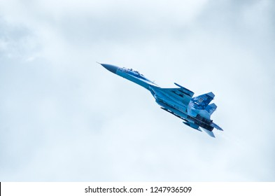 Radom, Poland - August 26, 2017: Airshow Radom. One of most famous aviation events in central Europe.