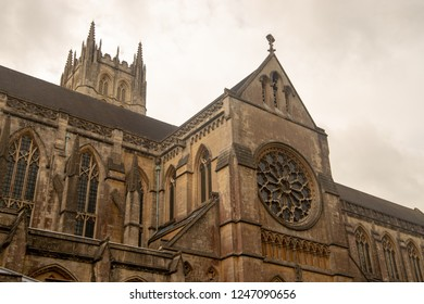 Radstock, UK, 06-09-2018: Downside Abbey, Radstock