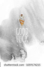 Rady made gift postcard Good luck - for those you love or for yourself