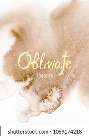 Rady made Obliviate I'm sorry gift postcard. Don't forget to ask forgiveness from those you love! And be happy!