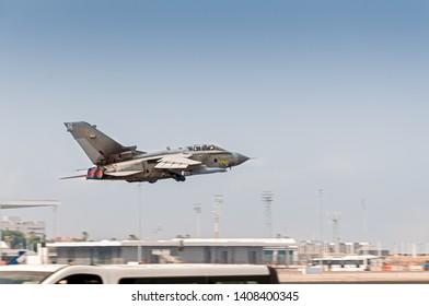 RAF Blackhawk taking off from Gibraltar airport