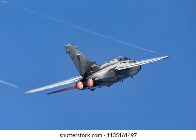 RAF Fairford, Gloucestershire, UK - July 10, 2014: Italian Air Force (Aeronautica Militare Italiana) Panavia Tornado IDS multirole combat aircraft MM7029.