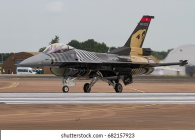 RAF FAIRFORD, UK - 13 JULY: Soloturk Turkish Air Force F-16 at The Royal International Air Tattoo on 13th July 2017