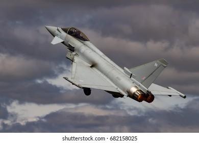 RAF FAIRFORD, UK - 14 JULY: Royal Air Force Typhoon at The Royal International Air Tattoo on 14th July 2017