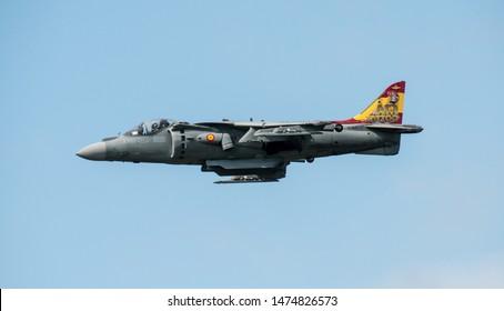 RAF Fairford, UK - July 21st 2019: Spanish Navy EAV-8B Harrier 2