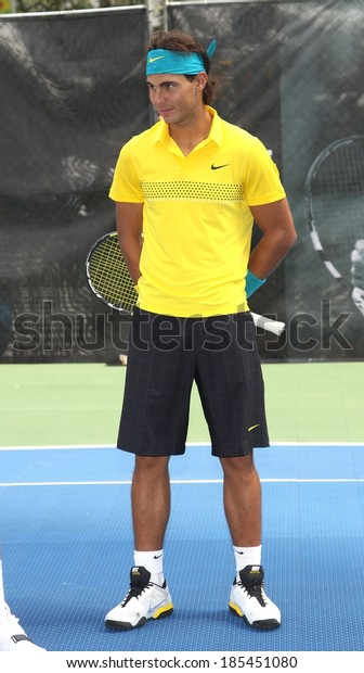 photos officielles 00ffb a86d1 Rafael Nadal Public Appearance Nike Unveiles Stock Photo ...