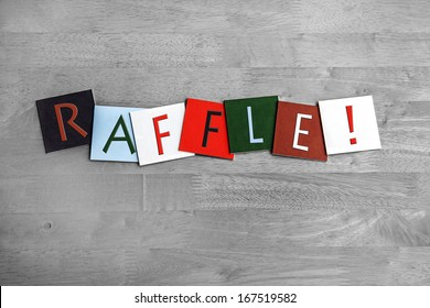 Raffle as a sign for tombolas, lottery, raffles, fetes and shows