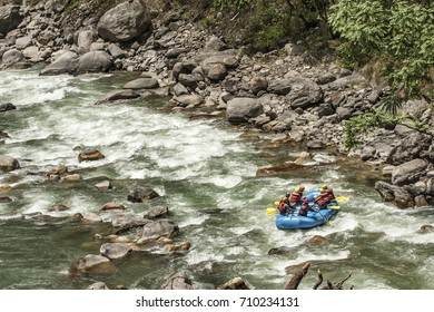 Rafting, an adventure travel activity,  in Nepal.