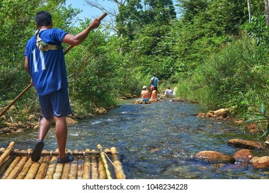 Rafting in  Khao Lak national park in Thailand