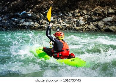 Rafting on Aries river