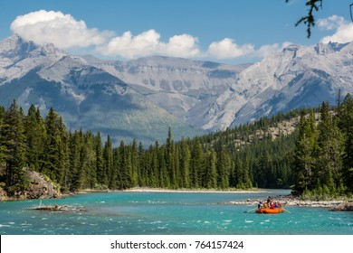 Rafting on the Bow River in Banff National