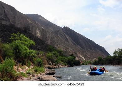 Rafting on Cabra Corral river, Salta, Argentina