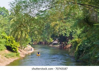 Rafting on the Phetchaburi River, Thailand