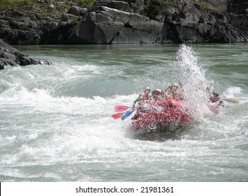 rafting on the rough river