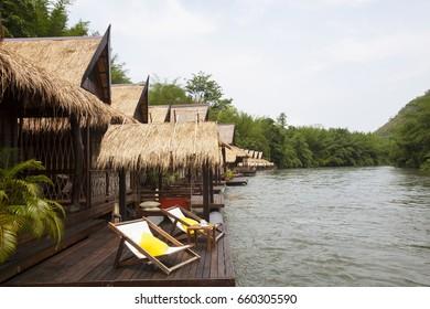 Rafting resort, kanchanaburi, thailand