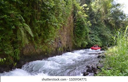 Rafting In Ubud River, Bali, Indonesia