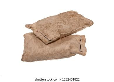 rag bag isolated on white background