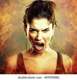 Rage Scream of Angry Woman