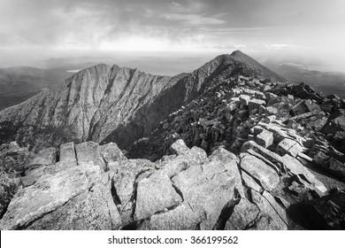 Ragged mountain top of Mt. Katahdin