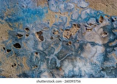 ragged old plaster