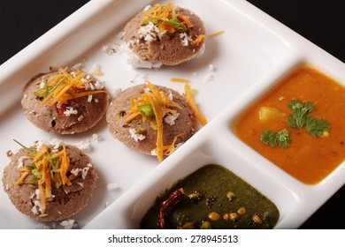 Ragi Idli, is a savory cake of south Indian origin and are made by steaming a batter consisting of ferment black lentils & Ragi.
