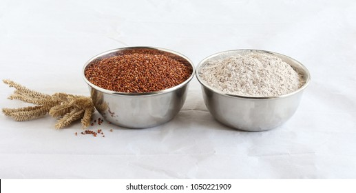 Ragi, also known as finger millet and ragi flour, which is a healthy food and is gluten-free.