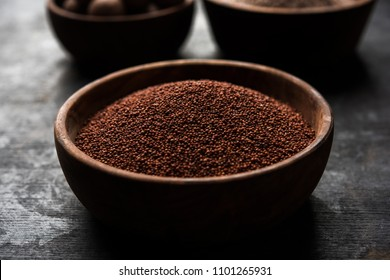 Ragi / Nachni , also known as finger millet and ragi flour, which is a healthy food and is gluten-free.