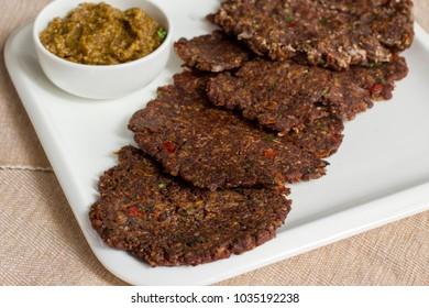 Ragi roti is a healthy and tasty breakfast dish of Karnataka, India.