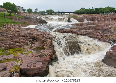 Raging Water of the Big Sioux River at Falls Park