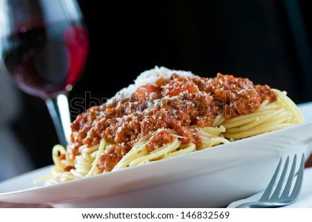 Ragu Alla Bolognese Complex Sauce Spaghetti Stock Photo Edit Now