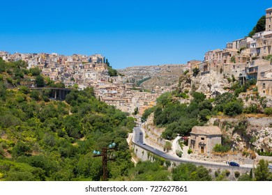 Ragusa (Sicily, Italy) - Landscape Ragusa Superiore (on the left) and the ancient centre of Ibla (on the right)