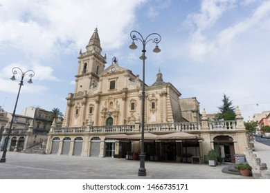 RAGUSA SICILY ITALY ON OCTOBER 2018: Cathedral of San Giovanni Battista in Ragusa, Sicily, Italy