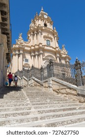 Ragusa (Sicily, Italy) - Saint George cathedral in the ancient centre of Ibla